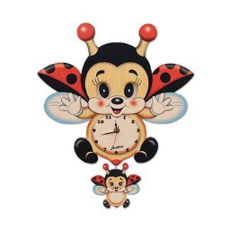 てんとう虫キャラクター | 振り子時計(目が動く)