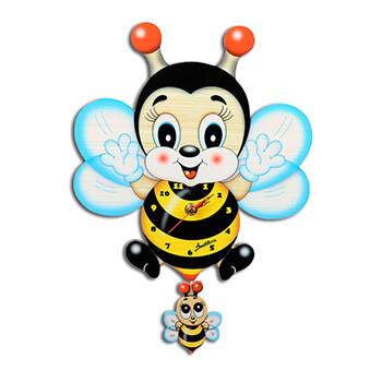 ミツバチキャラクター | 振り子時計(大)